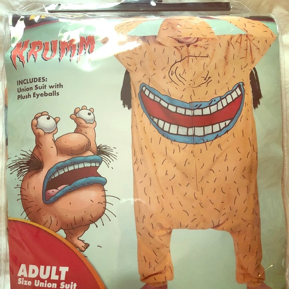 Spirit Halloween Other Ahh Real Monsters Krumm Adult Costume With Eyes Poshmark
